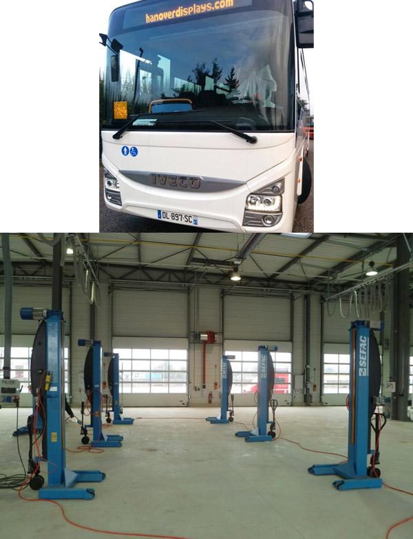 colonnes de levage pour bus Keolis